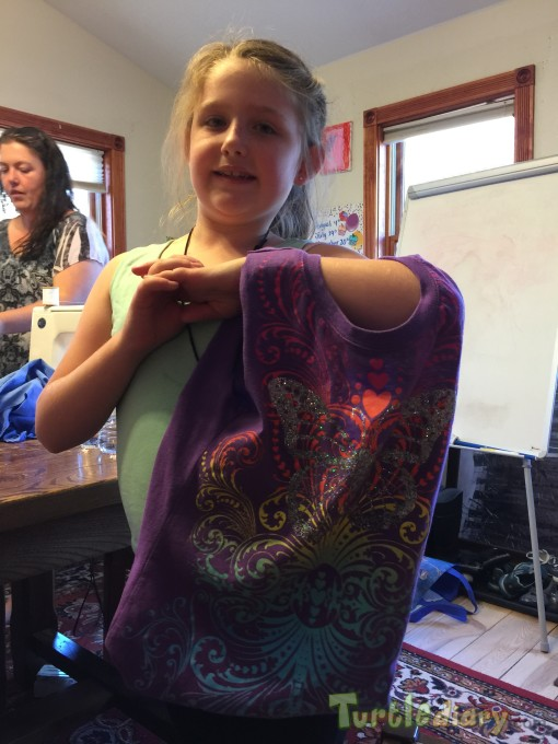 Reusing my shirt as a bag for my favorite things - Earth Day Contest April 2015 Submission