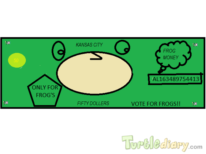 FROG MONEY ONLY FOR FROGS - Design Your Own Money Contest March 2015 Submission