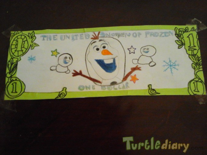 The United Snowmen of Frozen - Design Your Own Money Contest March 2015 Submission
