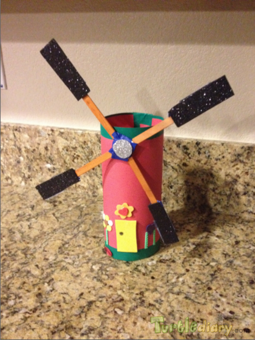 Recycled Wind Mill - Natural source of Energy - Go Natural and Save Earth  - Earth Day Contest April 2015 Submission