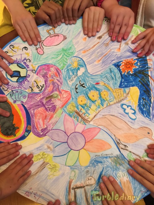 Love Our Earth puzzle made by all of the students k to 5 - Earth Day Contest April 2015 Submission