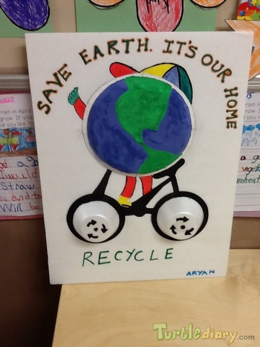 Earth on a bike - Earth Day Contest April 2015 Submission