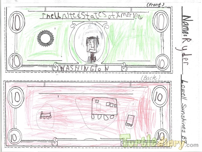 Washington 10 dollar bill - Design Your Own Money Contest March 2015 Submission