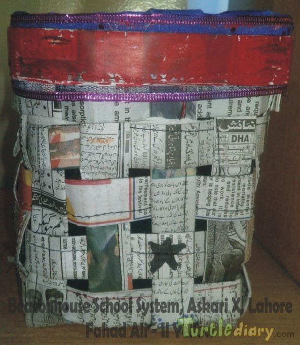 Bag (Re-use of Newspaper) - Earth Day Contest April 2015 Submission