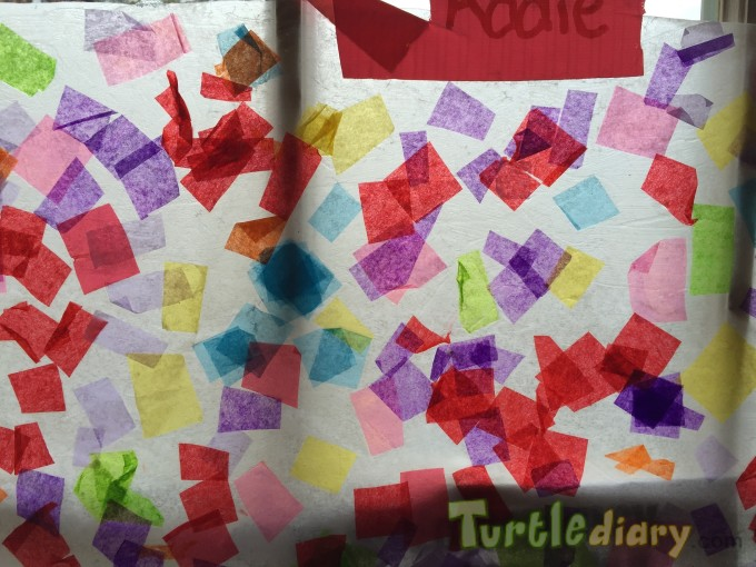 Scattered Rainbow reused tissue paper - Earth Day Contest April 2015 Submission