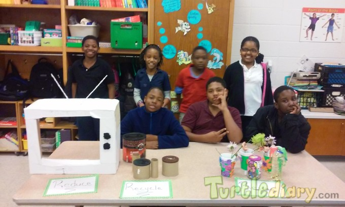 We Create by Reducing Reusing and Recycling - Earth Day Contest April 2015 Submission