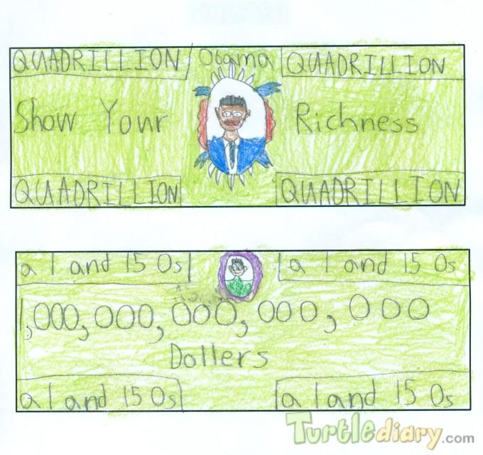 Quadrillion Dollar Bill - Design Your Own Money Contest March 2015 Submission