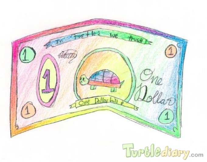 Colorful Turtle - Design Your Own Money Contest March 2015 Submission