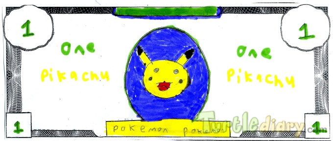 Pokemon Dollar - Design Your Own Money Contest March 2015 Submission