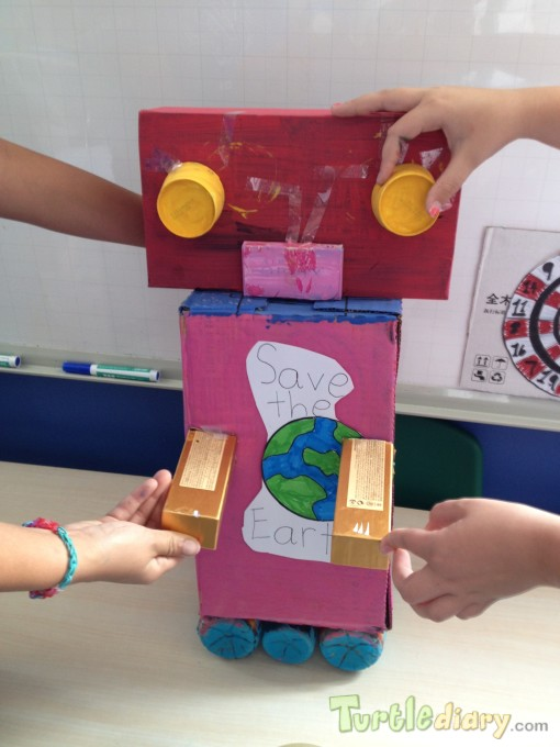 Robbie the recycled robot - Earth Day Contest April 2015 Submission