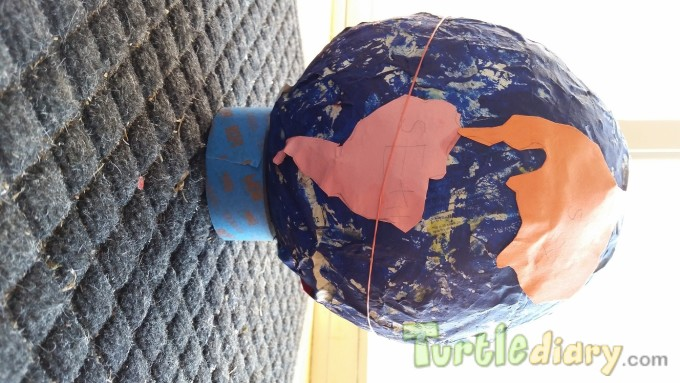 Paper Mache Recycled Earth - Earth Day Contest April 2015 Submission