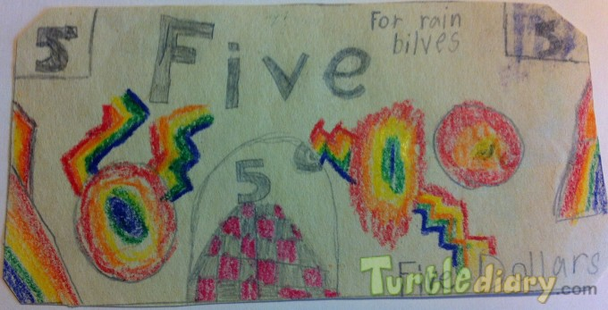 Rainbow money - Design Your Own Money Contest March 2015 Submission