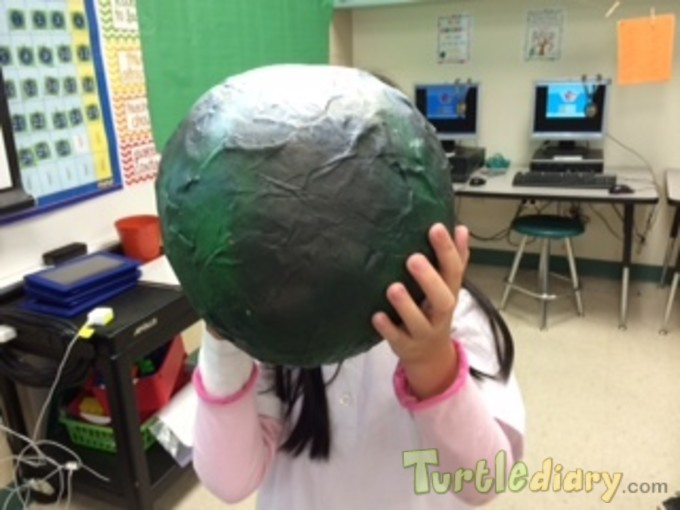 Change the World with my Hands--Recycled Paper Mache - Earth Day Contest April 2015 Submission