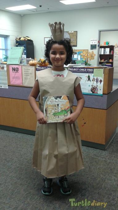 Paper bag princess dress