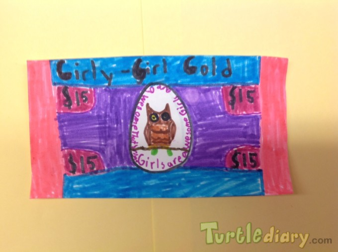 Girly-Girl Gold - Design Your Own Money Contest March 2015 Submission