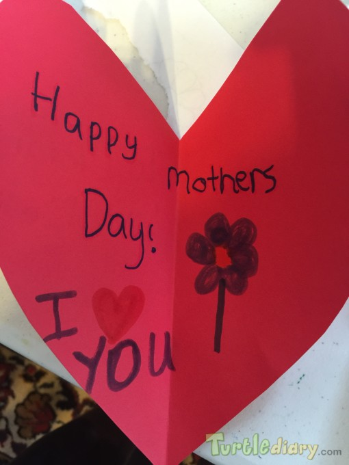 Heart card for Mom - Mother\