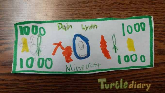 1000 Minecraft - Design Your Own Money Contest March 2015 Submission