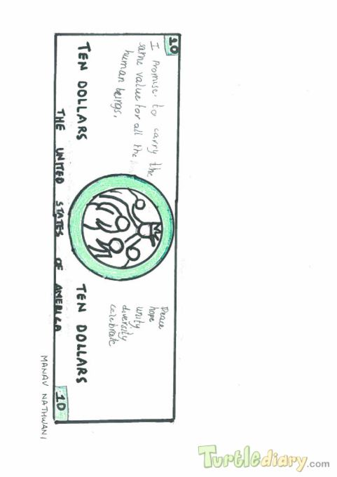 Dollar designed by Manav Nathwani - Design Your Own Money Contest March 2015 Submission