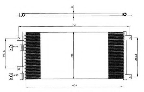 Радиатор кондиционера NRF 35643