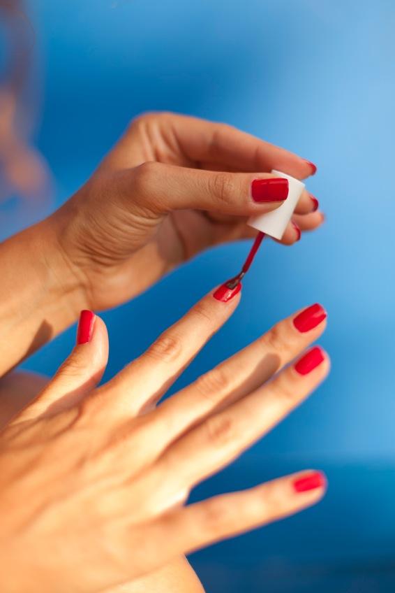Nails damaged by polish