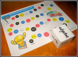 Noun verb adjective interactive games