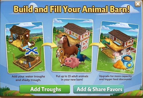 Build and fill your barn with Animals