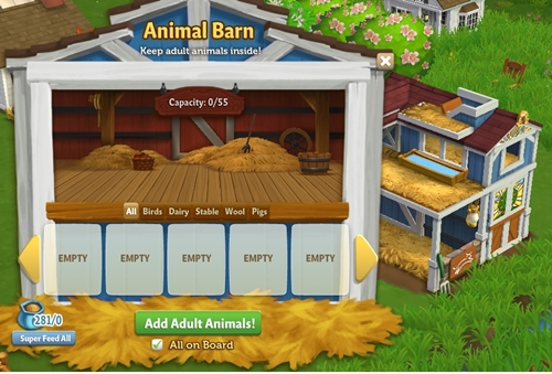 No More Building Or Arranging Those Tricky Fences To Fence In You Farm Animals Because This The Animal Barn Can Hold Up 55 Adult When Fully