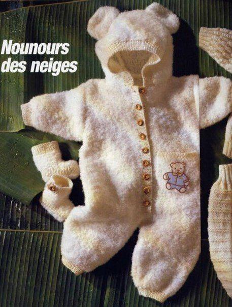 Вязание детский комбинезон спицами