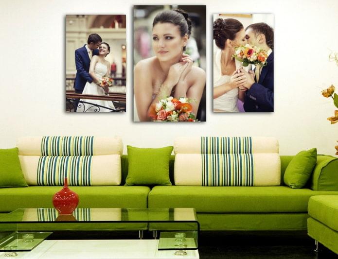 фотографии триптих в интерьере