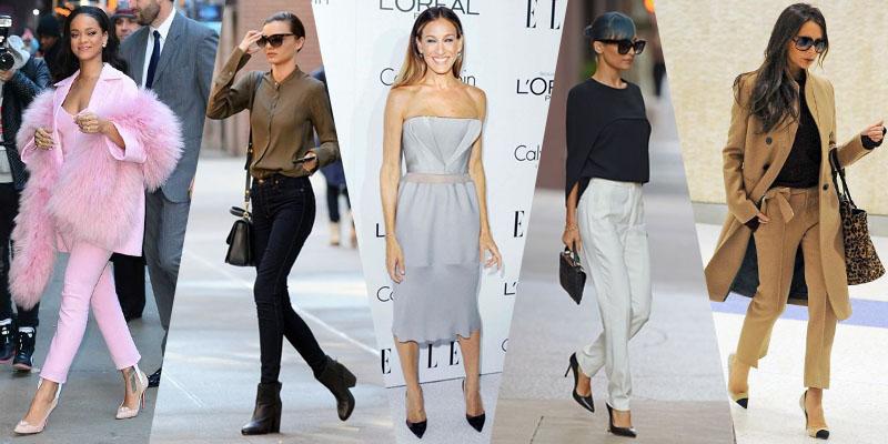 Celebrities dressing style