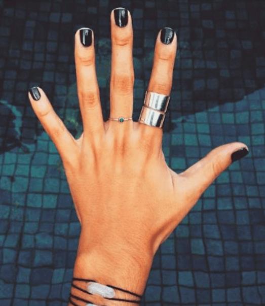 Neutral Nail Colors with Gold Nail Art
