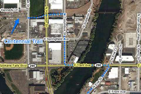 A map showing my route to Erie St.