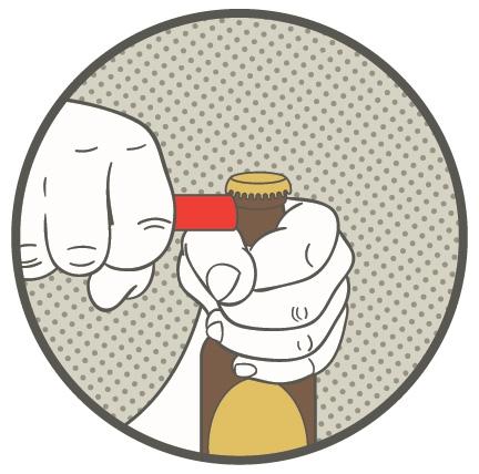 Как открыть бутылку лимонада без открывалки