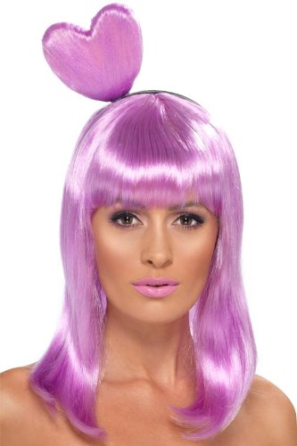 Smiffy's Candy Queen Wig, Lilac, One Size