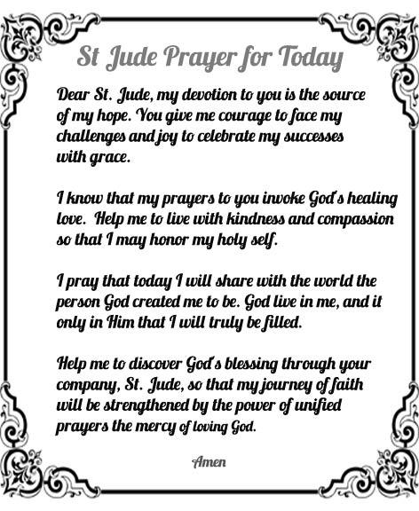 St jude devotional prayer booklet