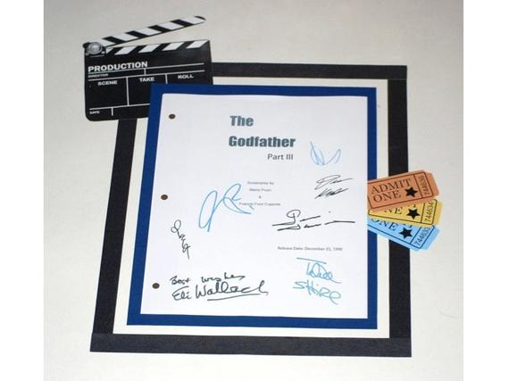 Al pacino signed godfather script