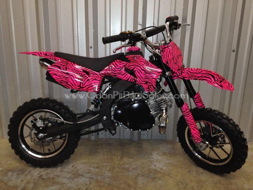 Hot pink dirt bike