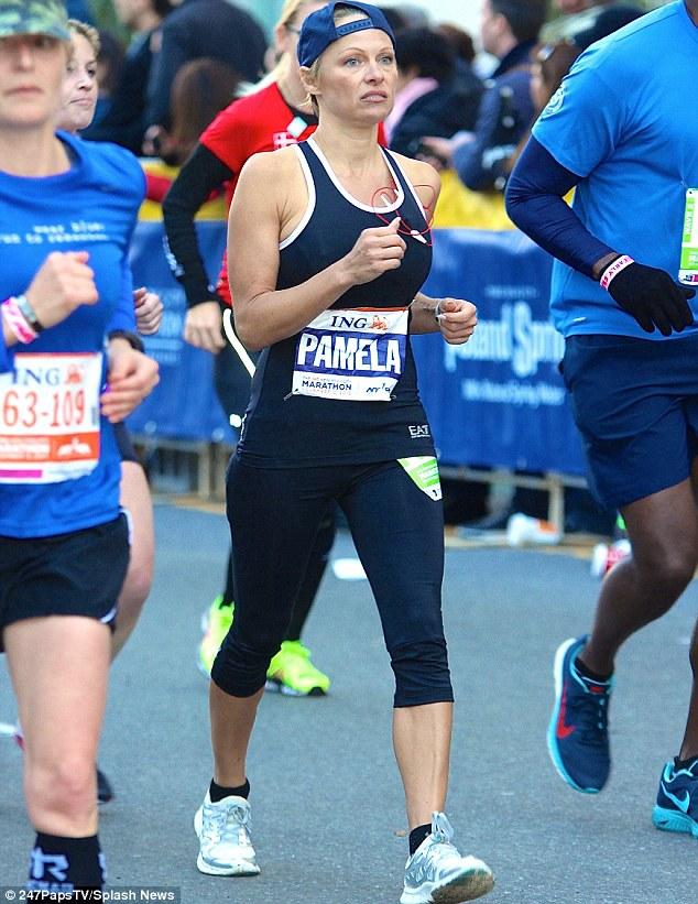 Pam anderson running nyc marathon