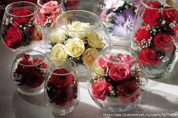 Розы в глицерине своими руками