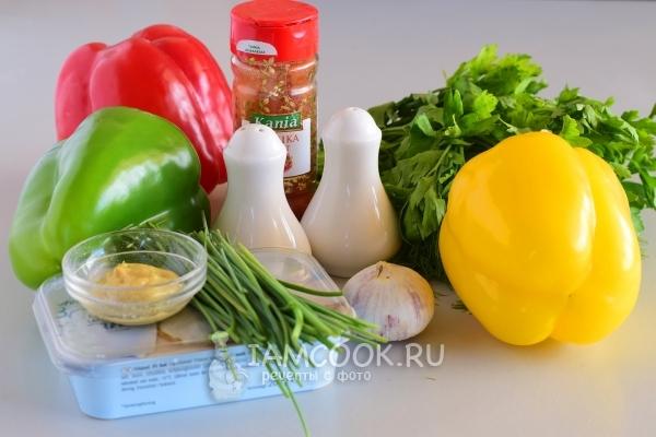Болгарский перец фаршированный творогом