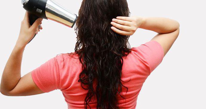 как сушить пушистые волосы