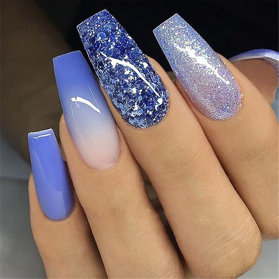 Nails are blue