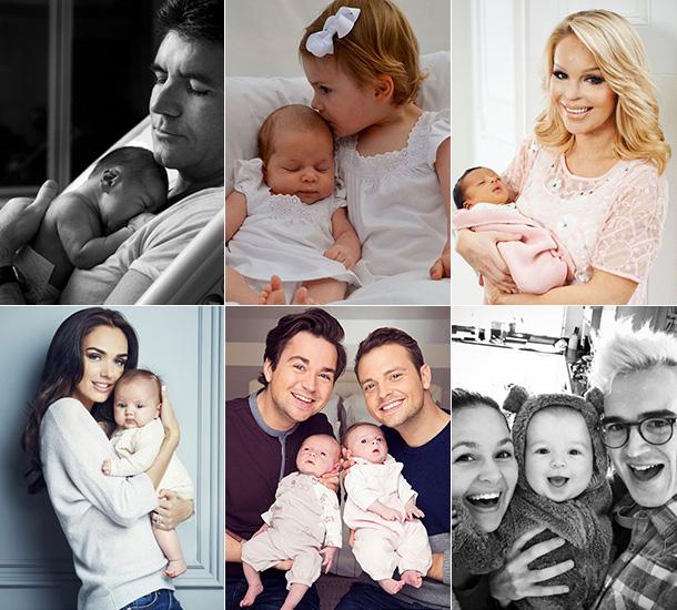 Celebrities with babies