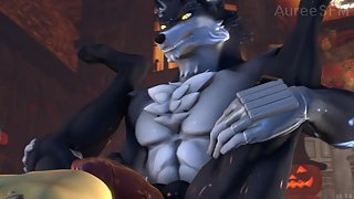 Werewolf Fucks Gay Vampire Dog in Ass - Furry SFM