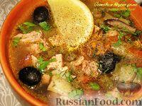 Фото к рецепту: Солянка мясная с грибами