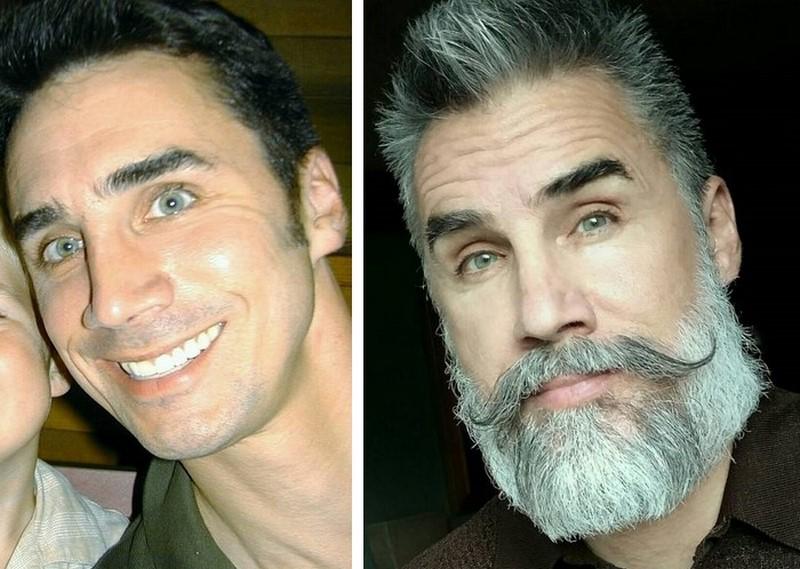 Фото мужчина красивый с бородой