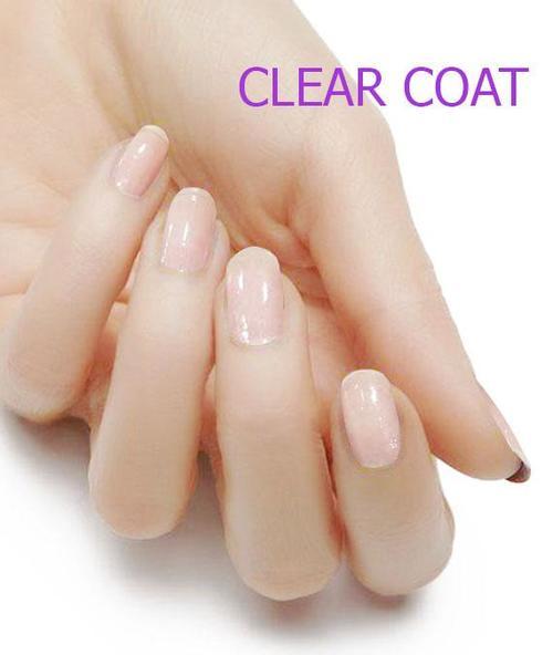 Clear coat nails