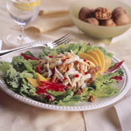 Crab Papaya and Walnut Salad