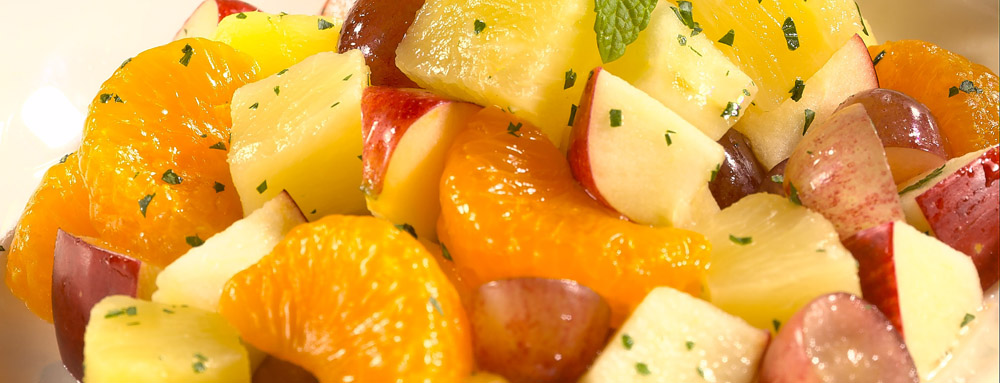 Photo of Fall Fruit Salad with Mint