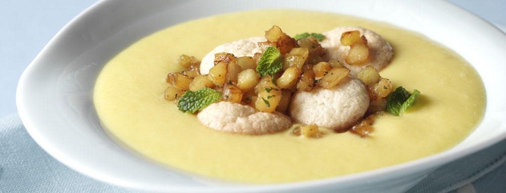 Photo of Chilled Mango Soup with Caramelized Pineapple